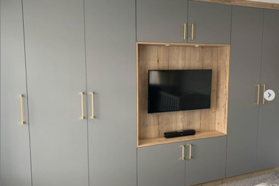 Fitted Wardrobes with Media Panel