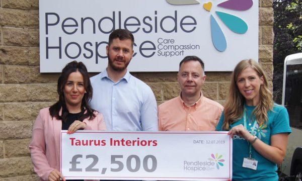 Taurus Interiors support Pendleside Hospice